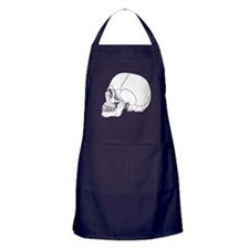 Skull In Profile Apron (dark)