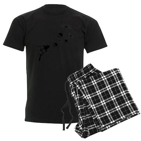 Skull Dandelion Seeds Men's Dark Pajamas