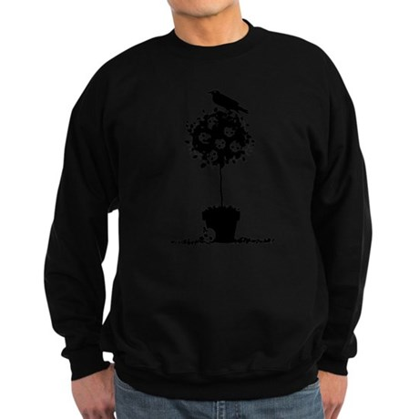 Evil Skull Topiary Sweatshirt (dark)