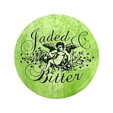"Jaded And Bitter Cherub 3.5"" Button"
