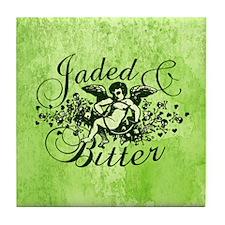 Jaded And Bitter Cherub Tile Coaster