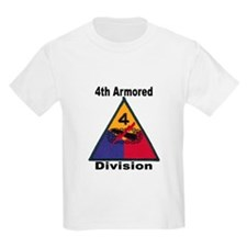 4TH ARMORED DIVISION Kids T-Shirt