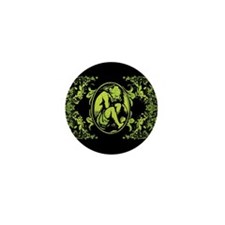 Weeping Cherub Green Mini Button