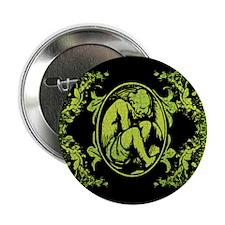 "Weeping Cherub Green 2.25"" Button"