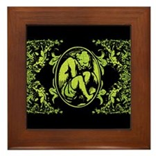 Weeping Cherub Green Framed Tile