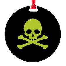 Green Skull And Crossbones Ornament