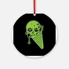 Skull Poison Ice Cream Cone Ornament (Round)