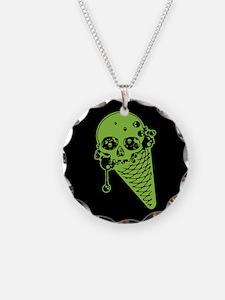Skull Poison Ice Cream Cone Necklace