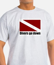 Divers go down Ash Grey T-Shirt