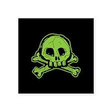 "Scribbly Skull And Crossbones Square Sticker 3"" x"