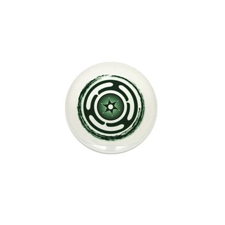 Green Hecate's Wheel Mini Button (100 pack)