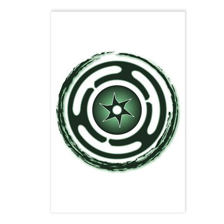 Green Hecate's Wheel Postcards (Package of 8)