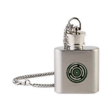 Green Hecate's Wheel Flask Necklace