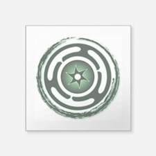 """Green Hecate's Wheel Square Sticker 3"""" x 3"""""""