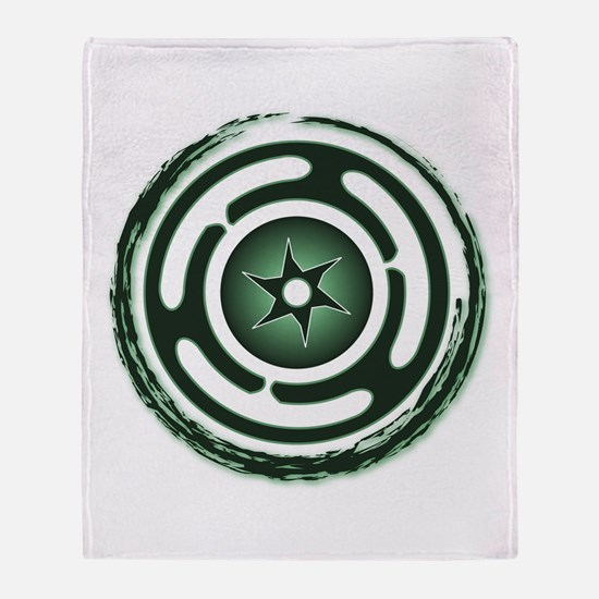 Green Hecate's Wheel Throw Blanket