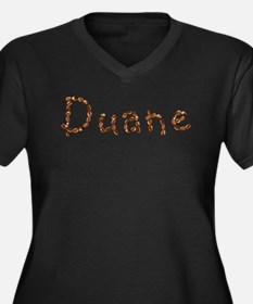 Duane Coffee Beans Women's Plus Size V-Neck Dark T