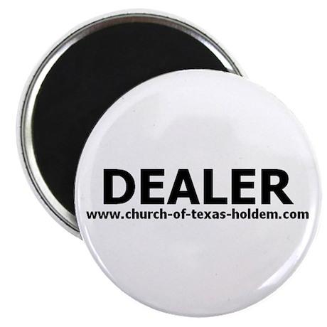 Dealer button fridge magnet