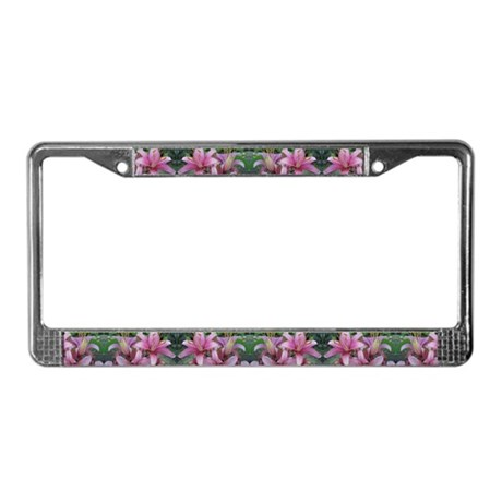 Lily License Plate Frame