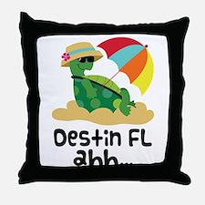 Destin Florida Turtle Throw Pillow