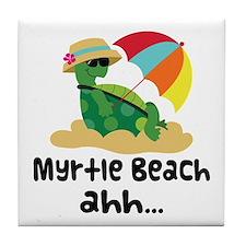 Myrtle Beach Turtle Tile Coaster