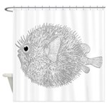 Blowfish Shower Curtain