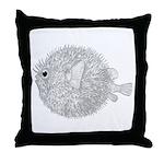 Blowfish Throw Pillow