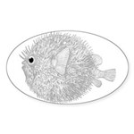 Blowfish Sticker (Oval 50 pk)