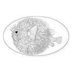 Blowfish Sticker (Oval 10 pk)