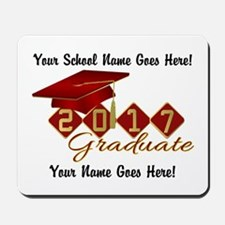 Graduate 2017 Red Gold Mousepad