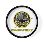 Panama Police Wall Clock