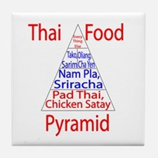 Thai Food Pyramid Tile Coaster