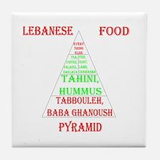 Lebanese Food Pyramid Tile Coaster