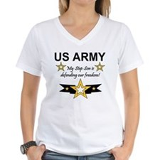 Army Step Son Defending Ash Grey T-Shirt T-Shirt
