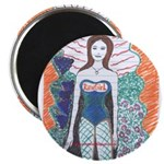 "Cute RawGirl 2.25"" Magnet (100 pack)"