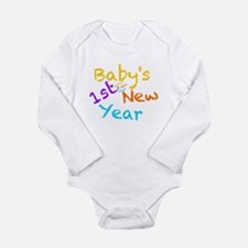 Babys 1st New Year Long Sleeve Infant Bodysuit