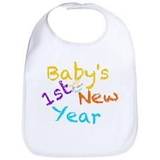 Babys 1st New Year Bib
