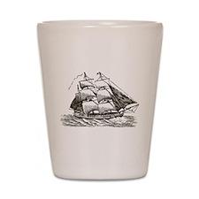 Vintage Sail Ship Shot Glass