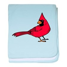 Red Cardinal baby blanket