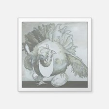 """The Hungry Chicken Square Sticker 3"""" x 3"""""""