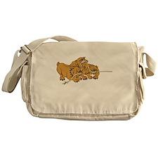 Bulldog Puppies Messenger Bag