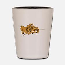 Bulldog Puppies Shot Glass