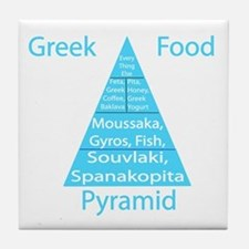 Greek Food Pyramid Tile Coaster