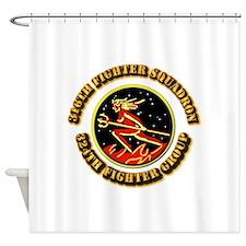 AAC - 316th FS, 324th FG Shower Curtain