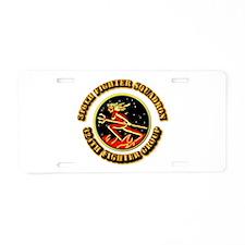 AAC - 316th FS, 324th FG Aluminum License Plate