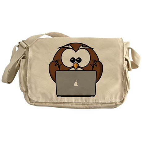 Owl With Laptop Messenger Bag