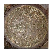 Water Meter Lids Tile Coaster