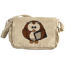 Owl With Tablet Messenger Bag