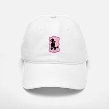 Black and Pink Poodle Silhouette Baseball Baseball Cap