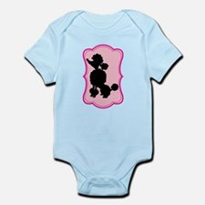Black and Pink Poodle Silhouette Infant Bodysuit