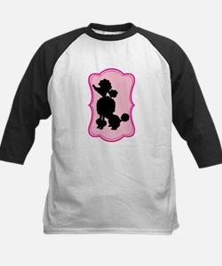 Black and Pink Poodle Silhouette Tee